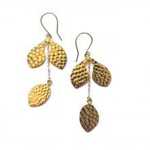 hammered naturae earrings