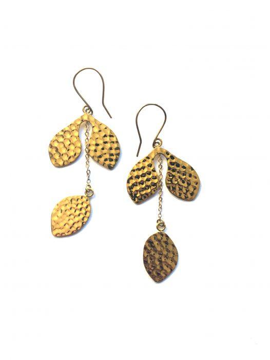 hammered naturae earrings