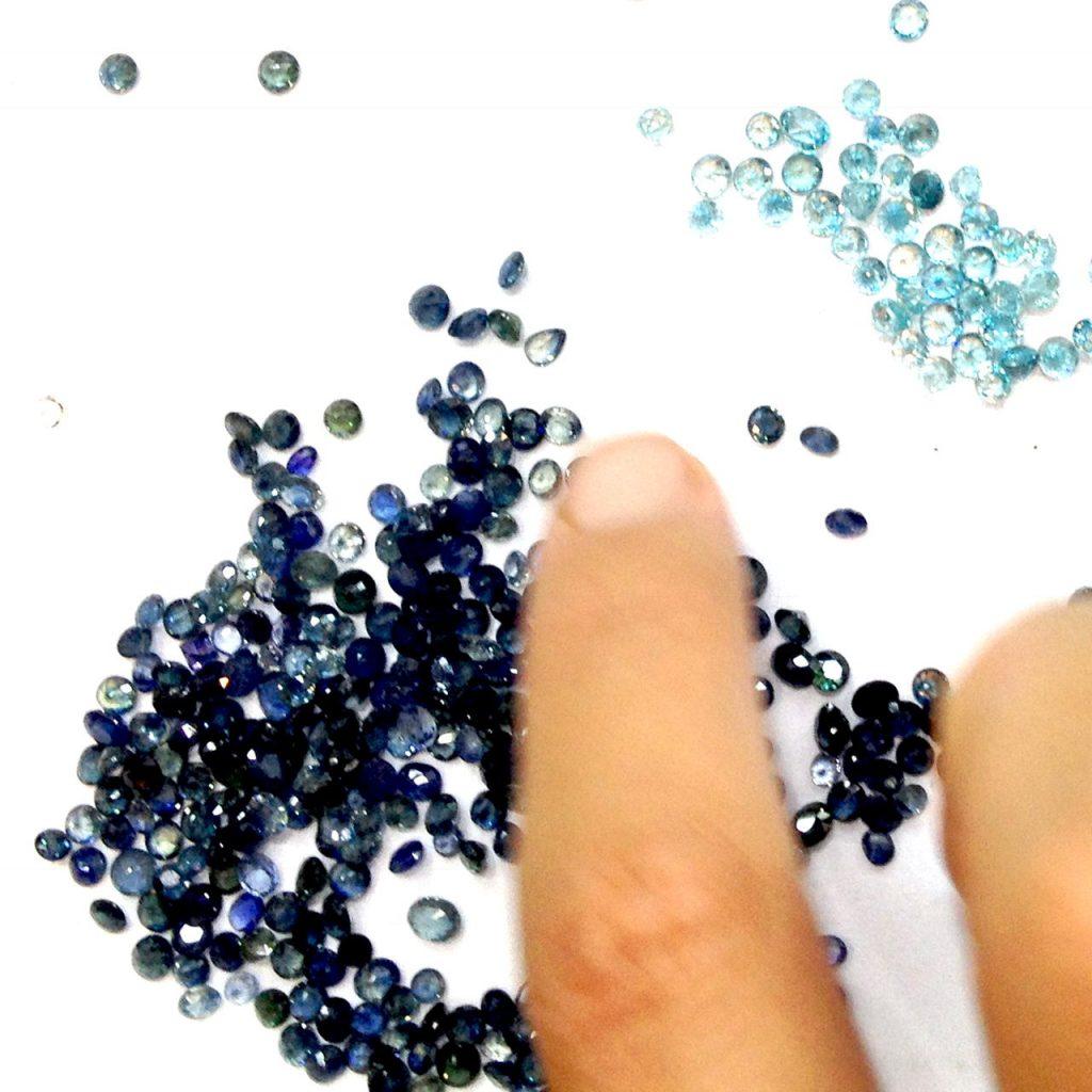 cut sapphires