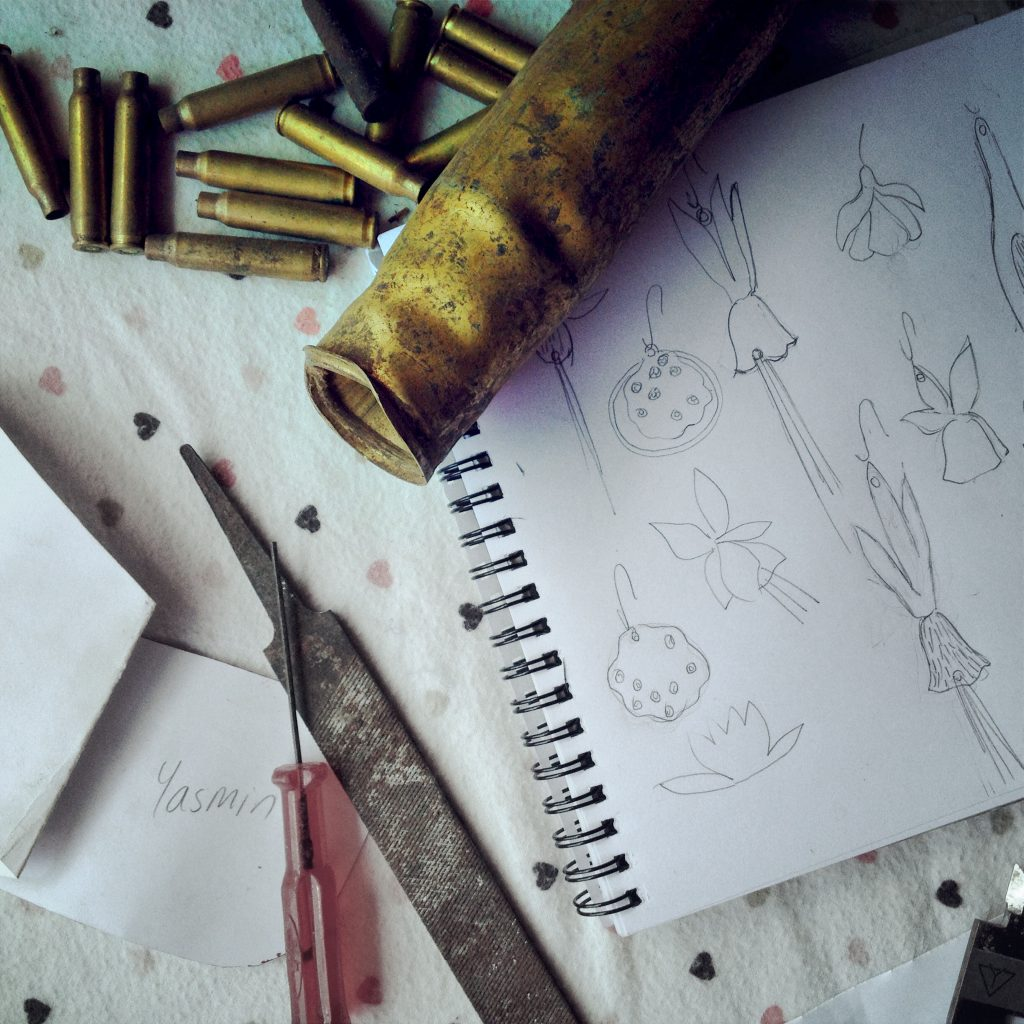 drawing with bullets
