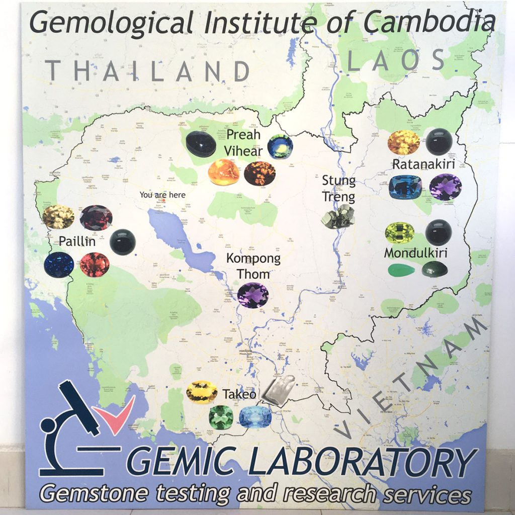 Map of gems cambodia at the gemological institute