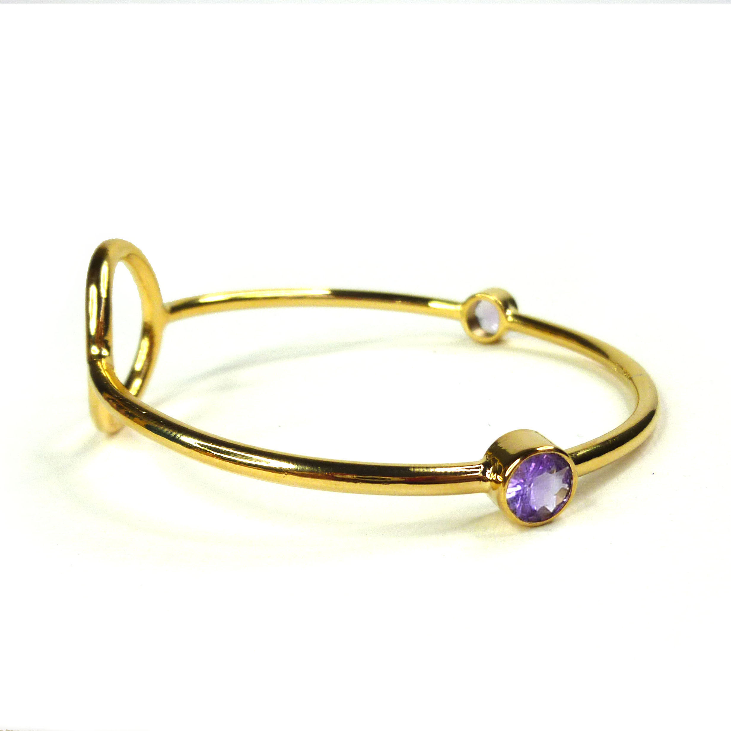 yellow bangle link bangles jewelers ladies previous heart amethyst next bright bracelet gold