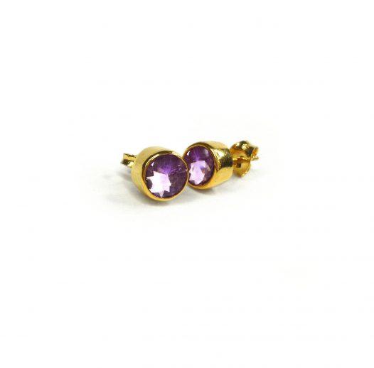 unity earrings amethyst