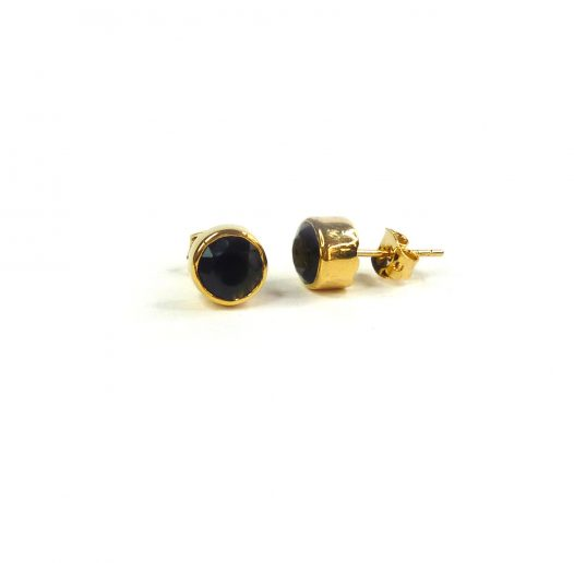 unity earrings onyx