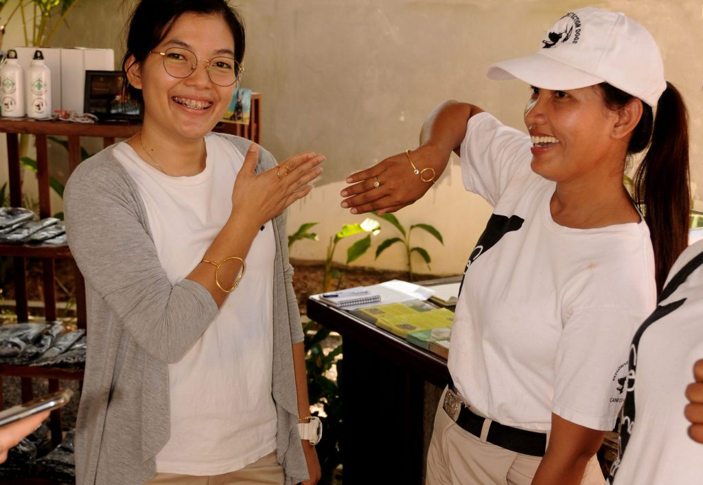 NPA landmine detection dog centre jewellery