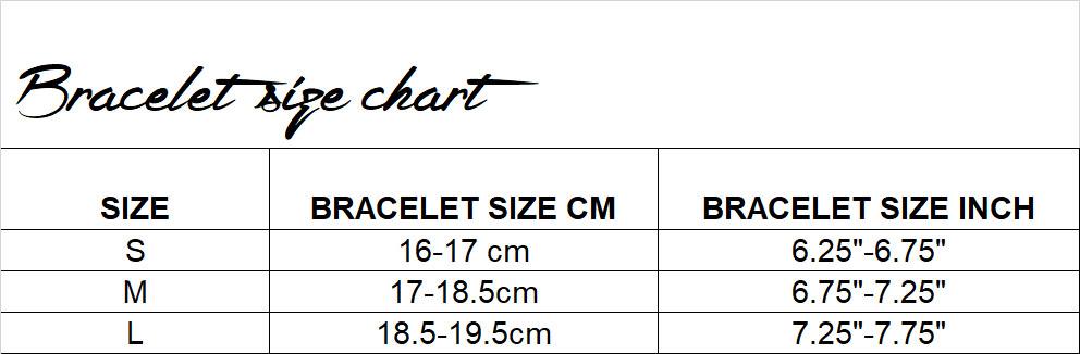 bracelet size chart emi & eve