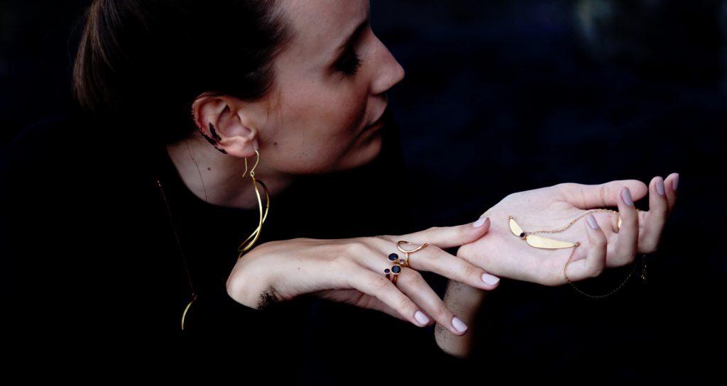 Emi & Eve model with jewelry